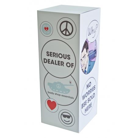 socle carton full-color imprimé, 45 x 45 x 100 cm (lxLxh)