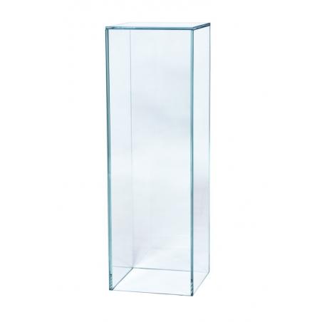socle verre, 25 x 25 x 60 cm (lxLxh)