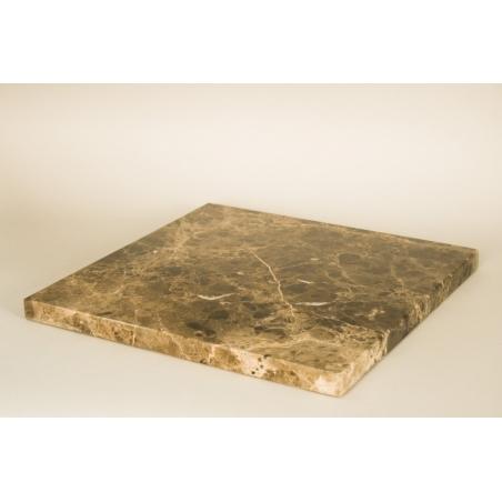 Top marbre marron (Emparador Dark, 20mm), 40 x 40 cm