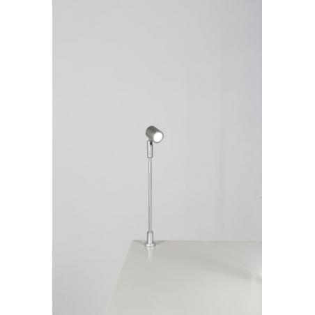Spot LED, Type 1, 216 mm, 1W, Argent (avec alimentation électrique)