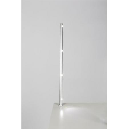 spot LED, type 7L, 405 mm, 4x1W, Argent (avec alimentation électrique)