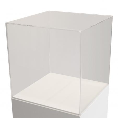 vitrine en plexiglas, 25 x 25 x 25 cm (lxLxh)