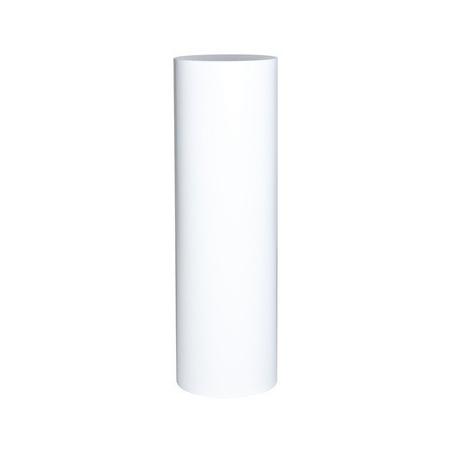 socle rond blanc, Ø 25 x 100 cm (h)